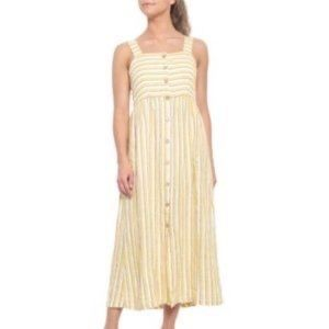 NWT RachelZoe 100% Linen Yellow Stripe Tank Dress